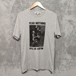 Alexander McQueen MCQ grey black fear nothing tee